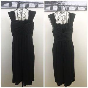 Sleeveless Ruched Little Black Dress